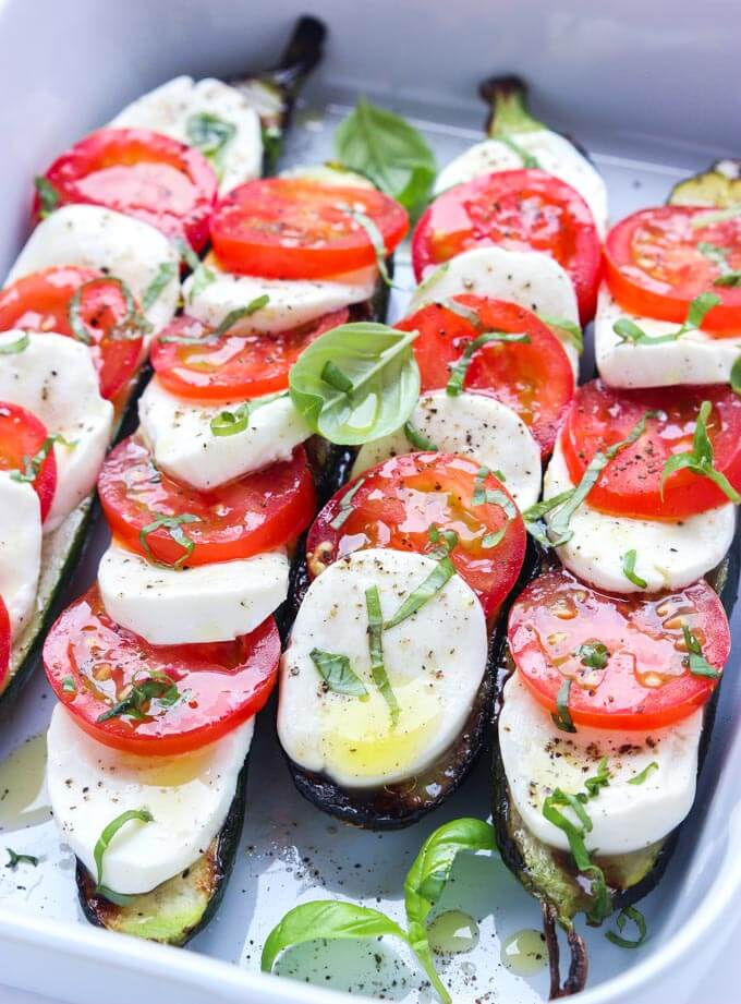 Grilled Zucchini Caprese from Little Broken [Memorial Day Weekend Menu Ideas at High-Heeled Love]
