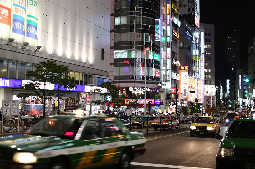 Getting around Tokyo by taxi