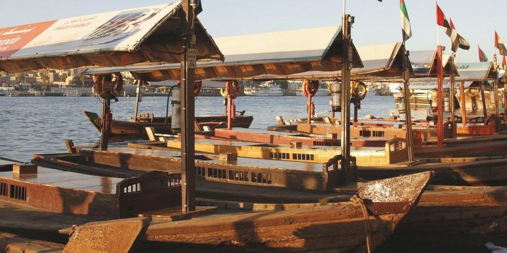 Dubai Abras on Dubai Creek | Little City Trips guide how to get around Dubai with Kids