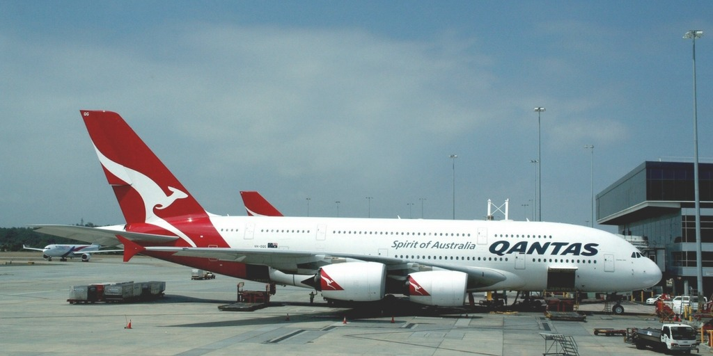 Qantas Airbus A380 at Melbourne Airport   Little City Trips guide how to get from Melbourne Airport to the City