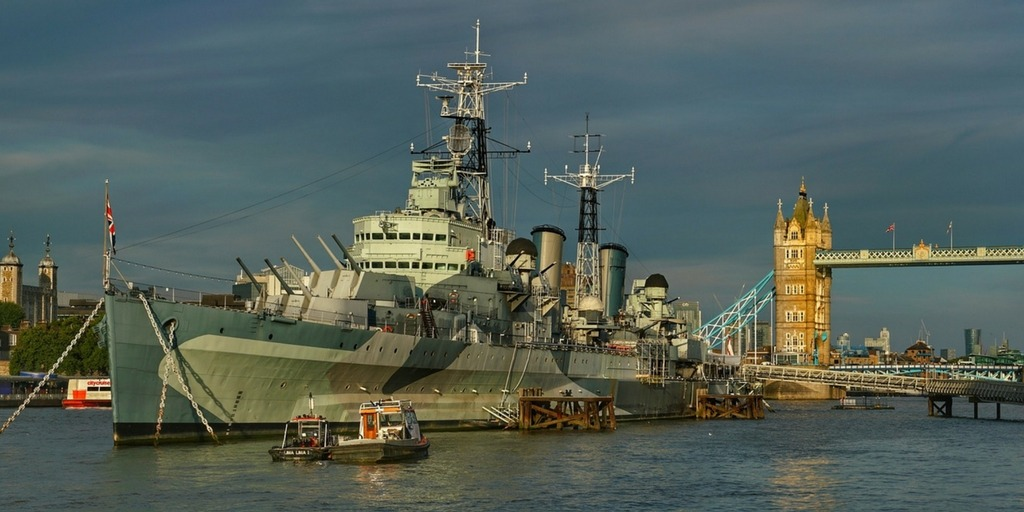 HMS Belfast with Tower Bridge and Tower of London | Fun Things to do in London with Kids