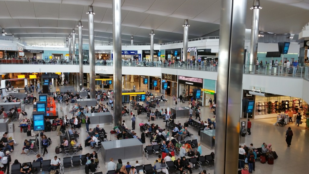 Inside London Heathrow Airport   How to get from Heathrow Airport to Central London with Kids   Little City Trips