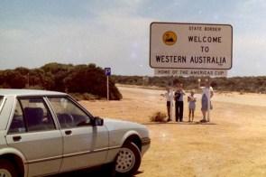 Western Australian Border crossing 1985