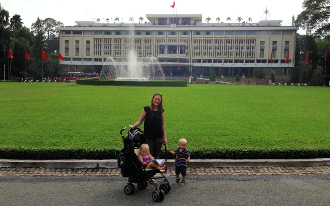 Keri & children in Ho Chi Minh City Vietnam