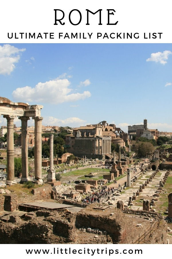 Travelling to Rome? City travel experts Little City Trips talk you through all the most important items you need to pack for Rome. Print off our Rome packing list for your next city trip.