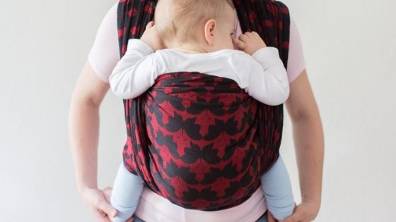 image of baby in baby carrier