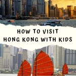 Hong Kong with kids City Skyline and Junk