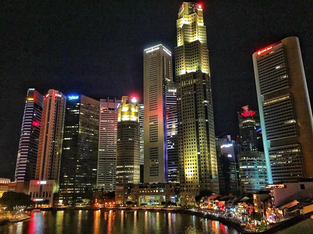 Singapore nightline Skyline