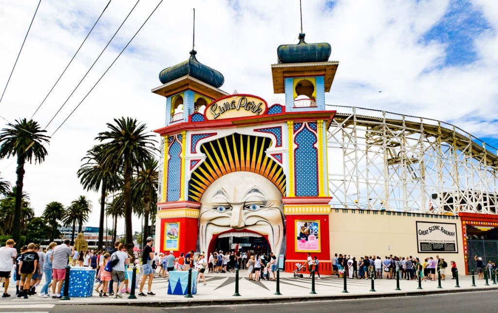 Luna Park in the Melbourne suburb of St Kilda