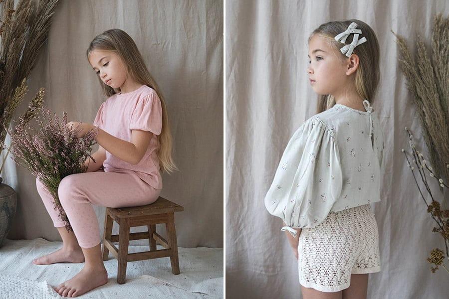 bebeorganic ss2021 bebe pouf and nora blouse