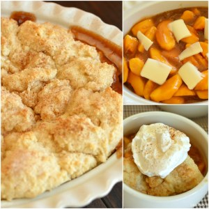 A warm cinnamon spice filling topped with melt in your mouth crust make this Fresh Peach Cobbler irresistible!