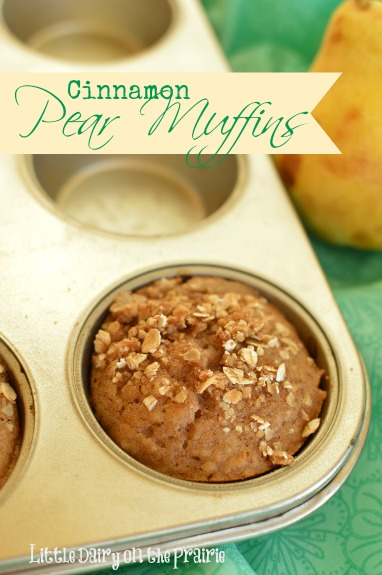 Pear Muffins may have just kicked pumpkin muffins out of the winning place at our house! Little Dairy on the Prairie