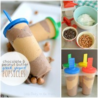 Chocolate and Peanut Butter Greek Yogurt Popsicles
