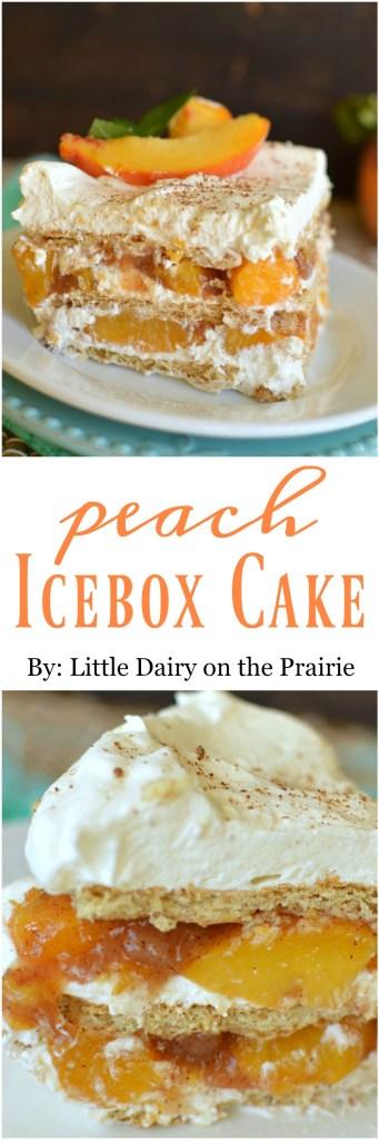 No Bake Peach Ice Box Cake is a scrumptious, quick and easy summerfall dessert!