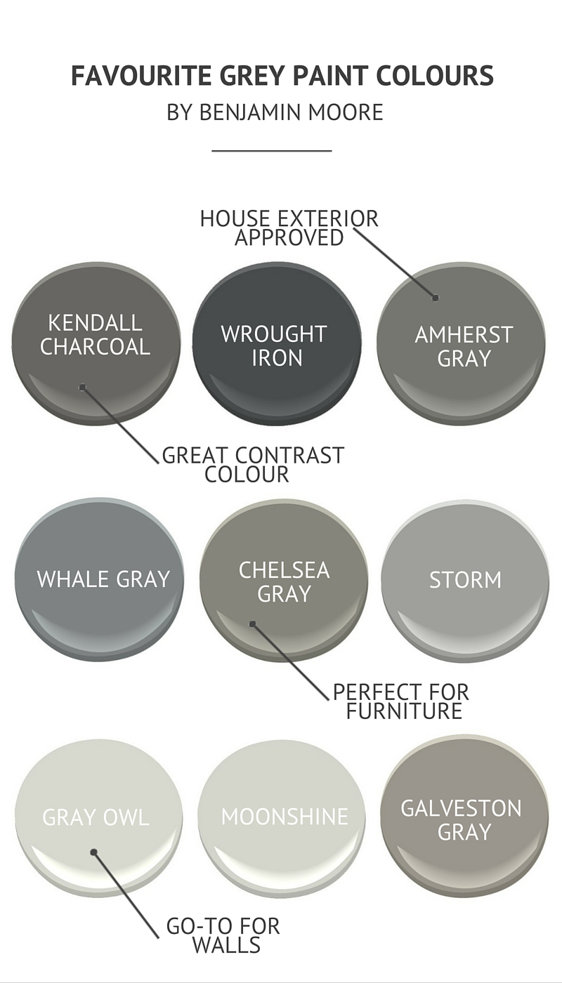 Wondrous Grey Paint Colours By Benjamin Moore Interior Design Ideas Inamawefileorg