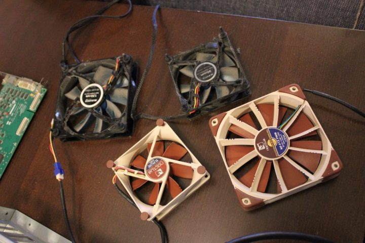 Old case fans and new case fans.