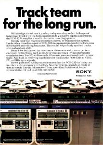 Sony DASH 3324 Advertisement.