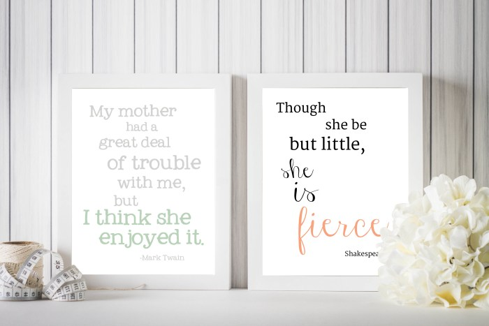 Shakespeare Quote and Mark Twain Quote