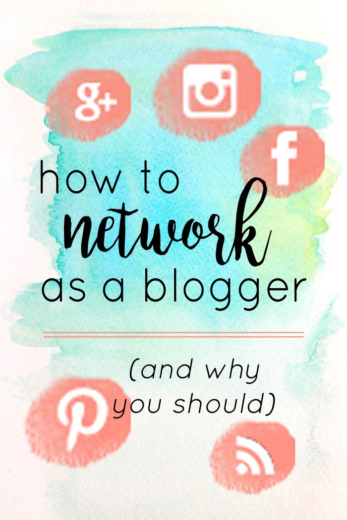 How to network as a blogger and why you should