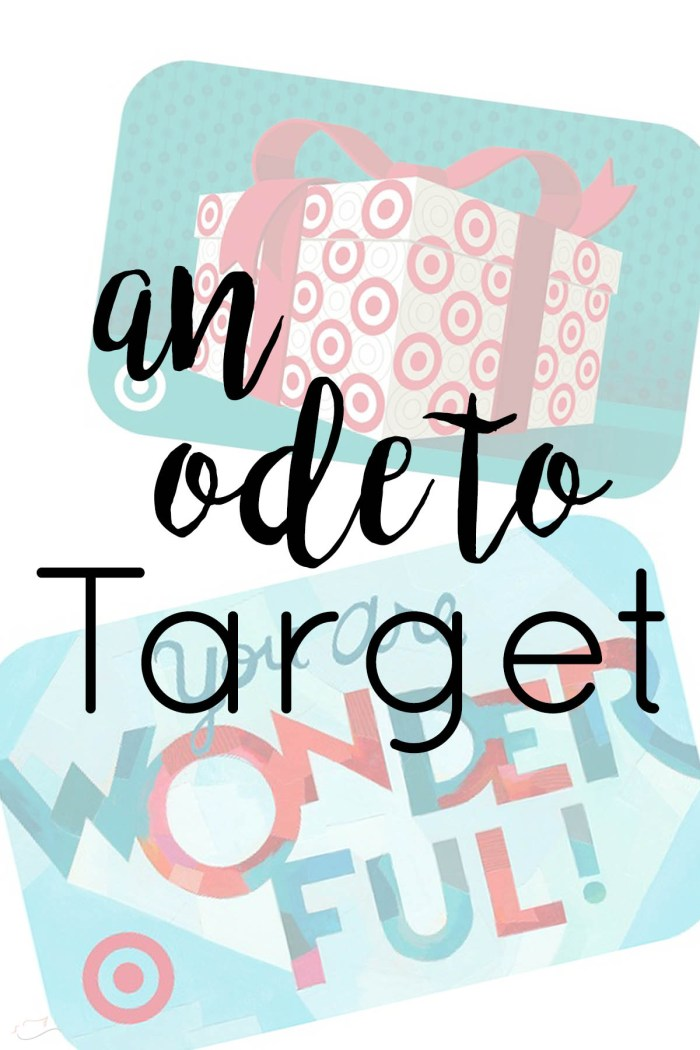 Target giveaway, an ode to Target