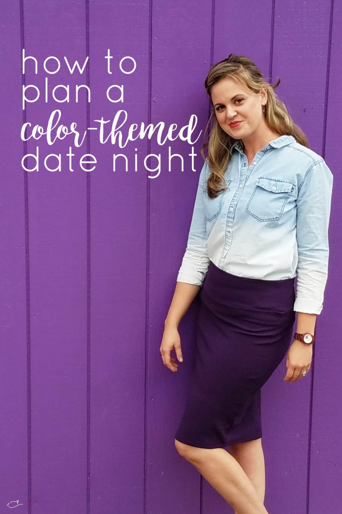 how to plan a color themed date night, Year of Color, purple