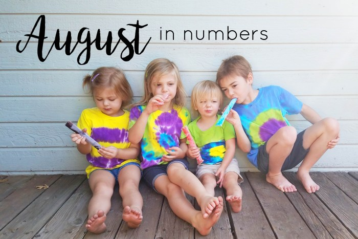 Month in numbers, August