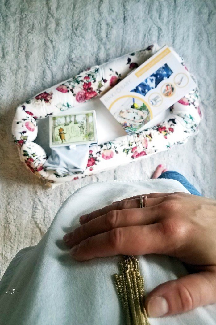 Justine Young, pregnant lifestyle and mom blogger shares a baby wish list gift guide for baby #5