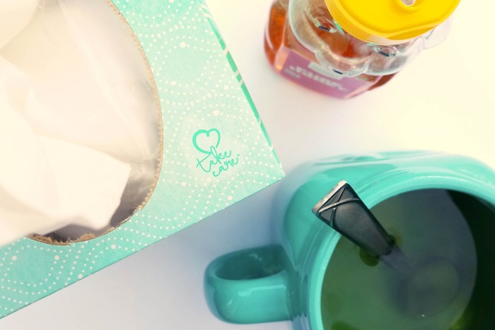 Justine Young lifestyle and mom blogger shares some advice on why self care is important for better care with Kleenex.