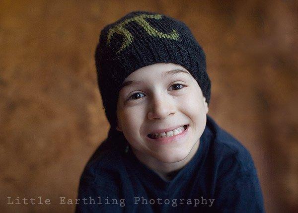 boy in pi hat