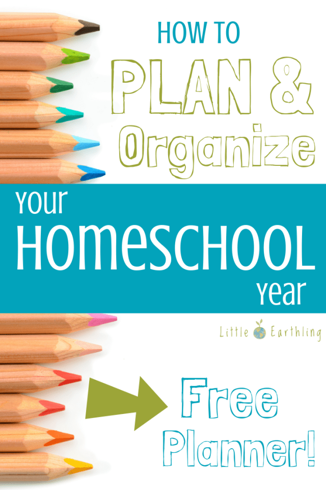 Plan and Organize your homeschool year with these free planner printable