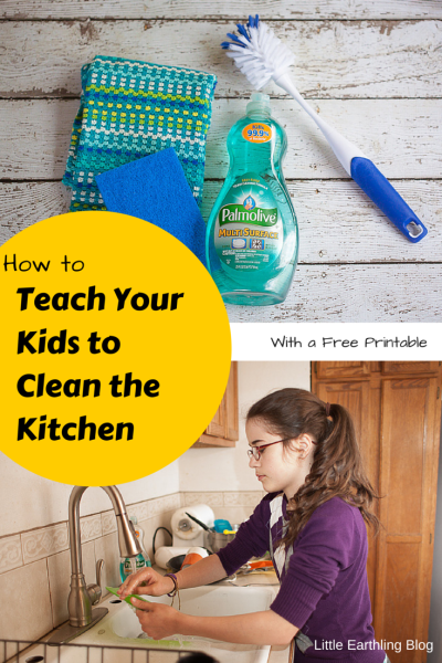 How to teach your kids to clean the kitchen