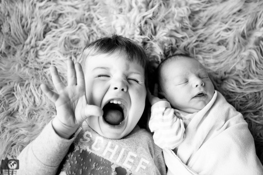 Toddler and newborn captured by little earthling photography
