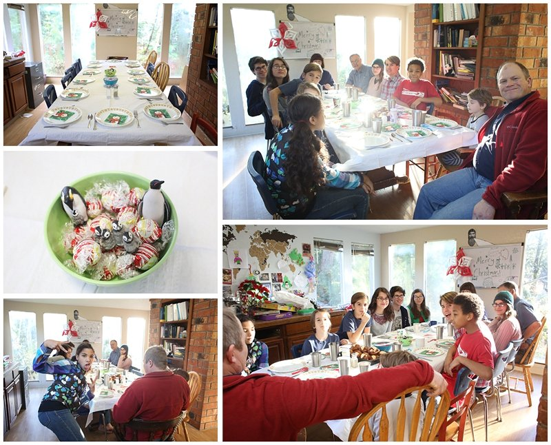 Christmas dinner in a large family