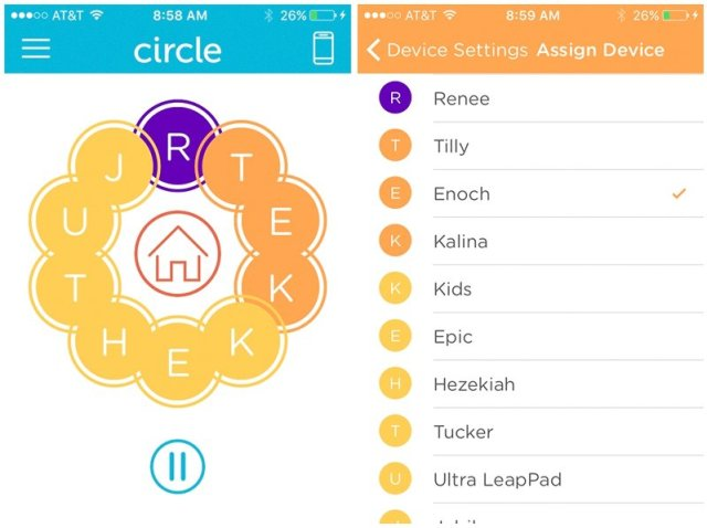 Circle with Disney helps monitor my children's time online.