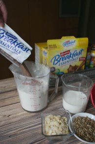 Carnation breakfast essentials add a rich, chocolatey flavor to these breakfast cookies