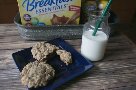 peanut butter and chocolate breakfast cookies