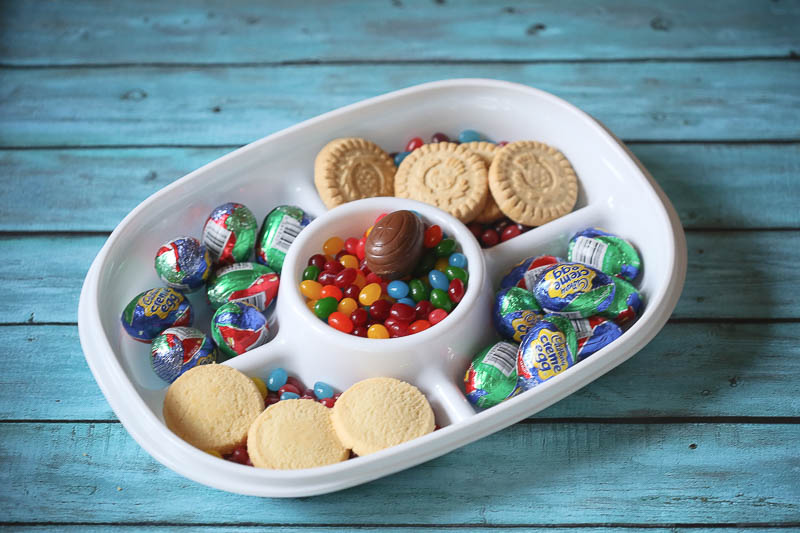 Celebrating the first day of spring with Walker's Shortbread, jelly beans and chocolate eggs!