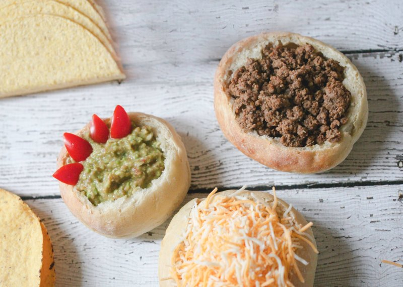 Sourdough bowls make a fun, festive addition to Taco Tuesday!