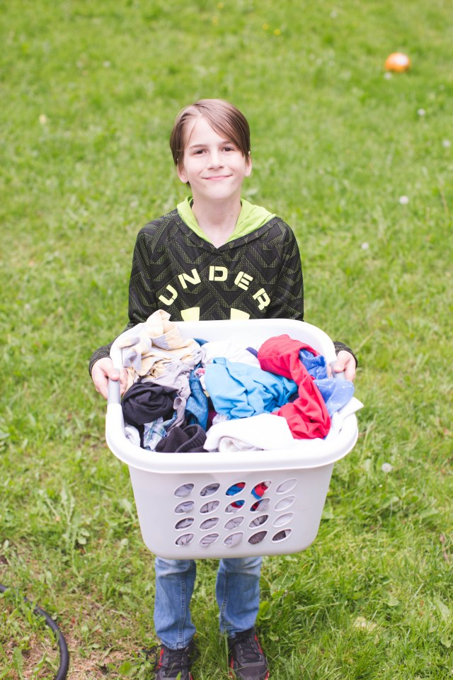 Keep your sanity with a manageable large family laundry routine
