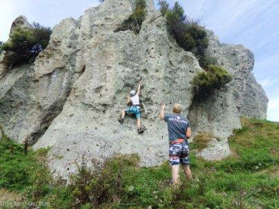 Rock climbing in New Zealand. Seeding my 15 year old to New Zealand as an unaccompanied minor.
