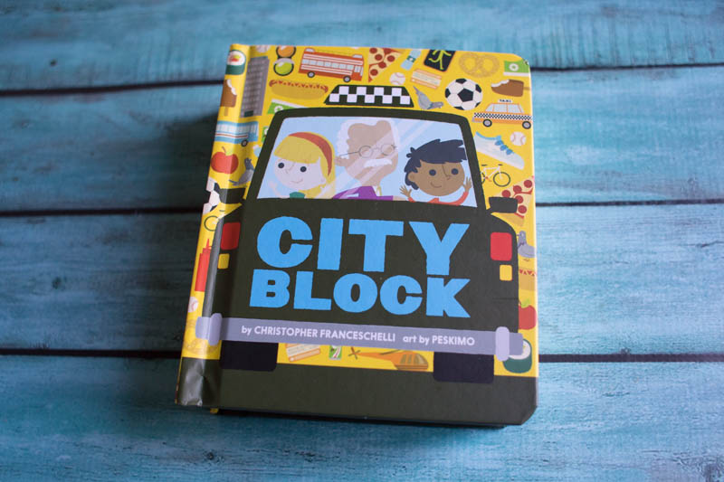 Cityblock is a bright, sturdy board book all about the city.