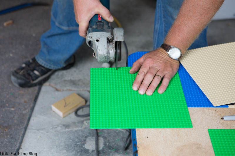 Step-by-step instructions for converting an old table into a DIY LEGO table.