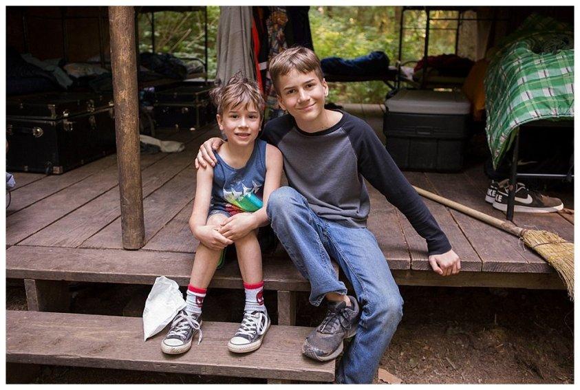 Apollo visits his brother at summer camp.