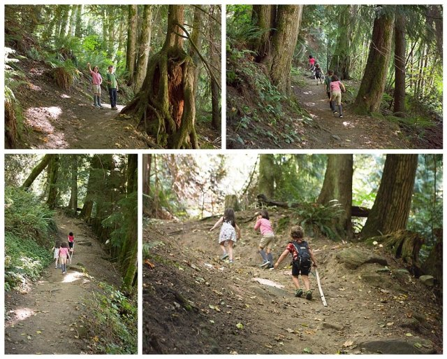 Hiking Squires Lake with kids in the Pacific Northwest. PNW homeschooling.
