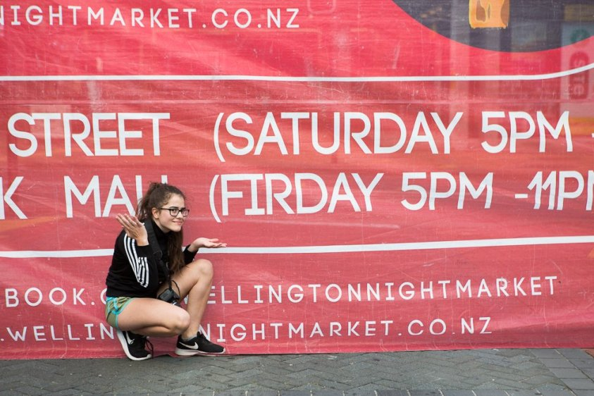 Loving the sign at the Wellington Night Markets.