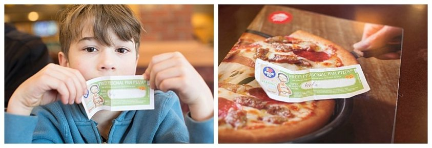 The Pizza Hut Book-It program gives kids free pizza!