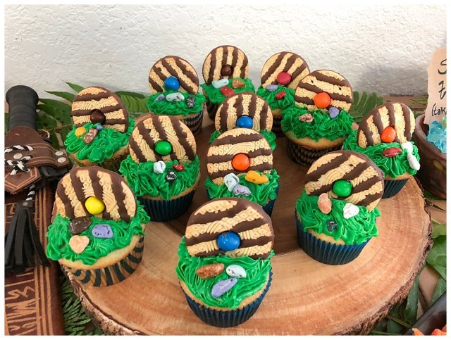 Hobbit door cupcakes for our Hobbit Party.