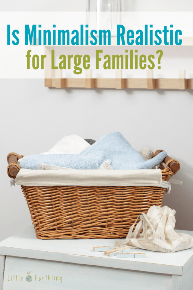 Is minimalism possible in large families?