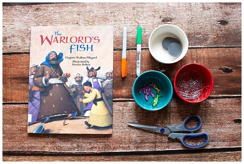 The Warlord's Fish Book and STEM Activity with free printable.