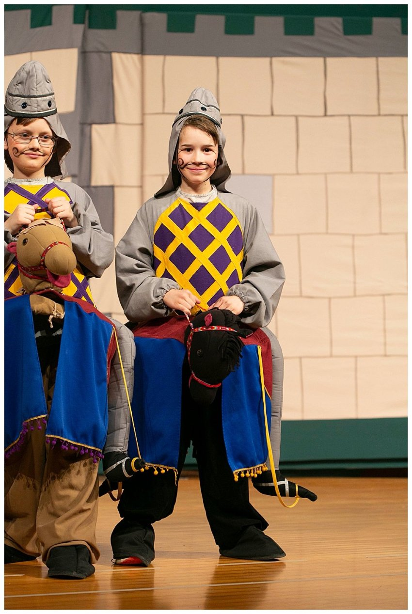 Apollo as a horseman in Missoula Children's Theater Robin Hood